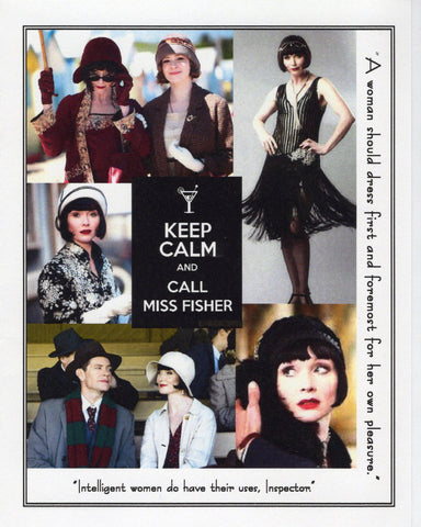 Keep Calm and Call Miss Fisher Note Card