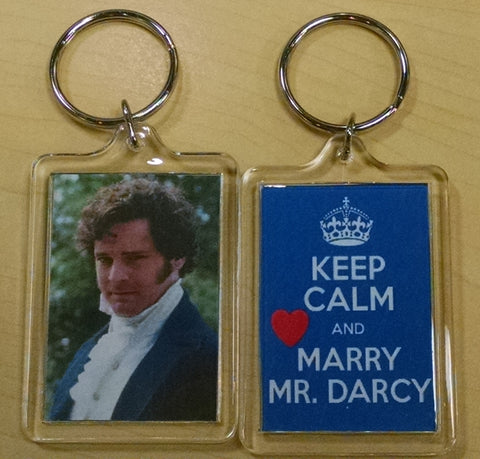 Keep Calm and Marry Mr. Darcy Keychain