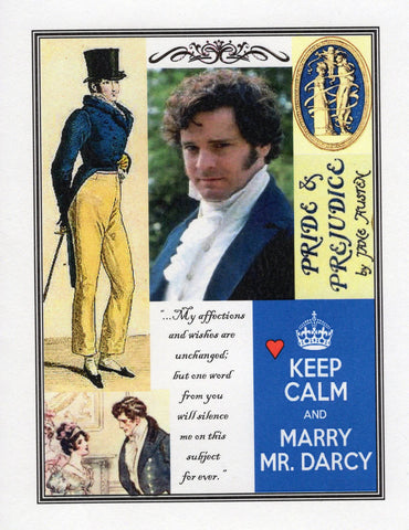 Keep Calm & Marry Mr. Darcy Note Card