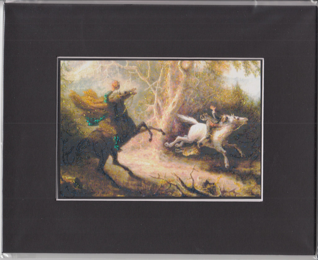 Legend of Sleepy Hollow ~ Glitter Print in 8x10 Mat
