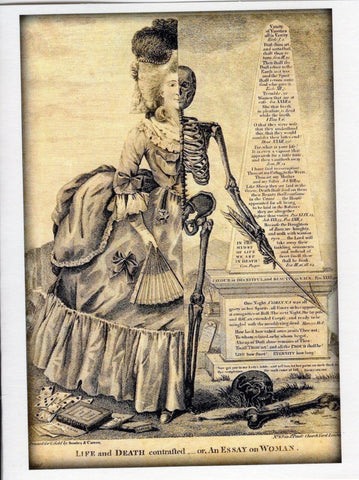 Life and Death Contrasted...or, An Essay on Woman Note Card