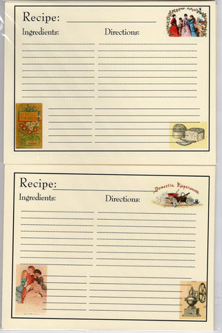 Recipe Cards Package ~ Little Women