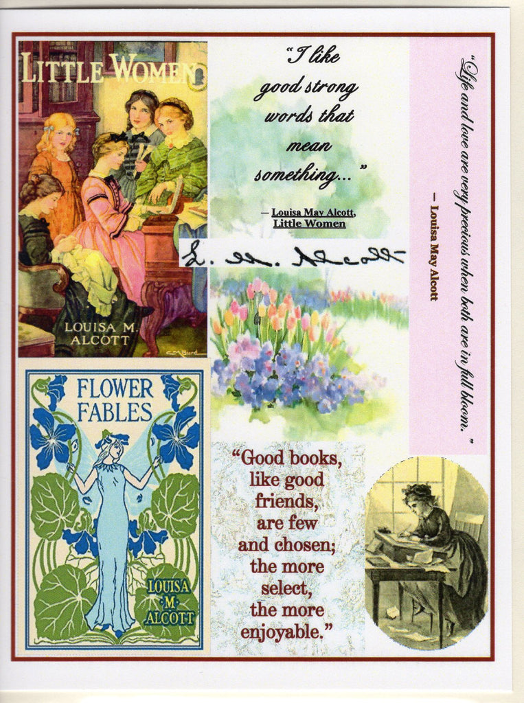 Louisa May Alcott Collage Note Card