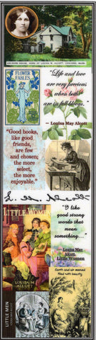 Louisa May Alcott Collage Bookmark