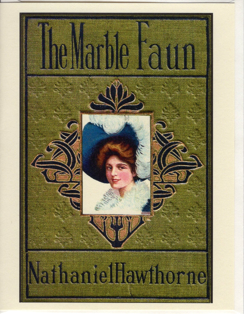 The Marble Faun 1910s Book Cover Note Card