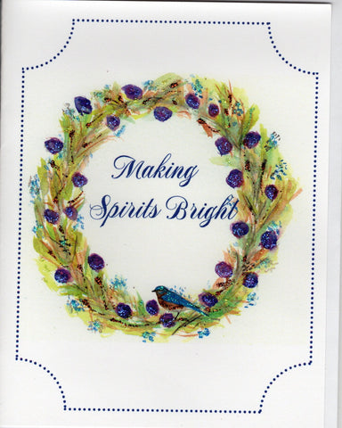 Making Spirits Bright Holiday Watercolor Glitter Card
