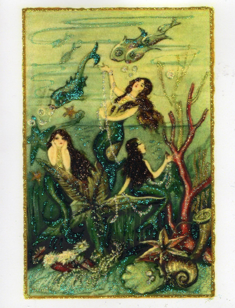 Under the Sea ~ Mermaids Glitter Card