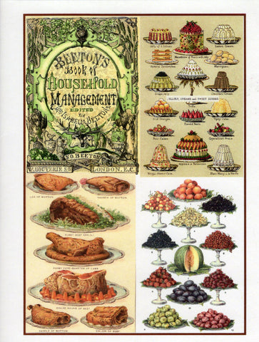 Mrs. Beeton's Array of Delicacies Collage Note Card