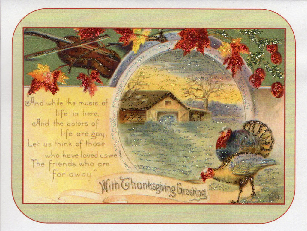 Music of Life ~ Thanksgiving Glitter Card