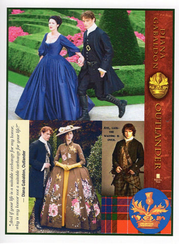Outlander Honor Blue Note Card