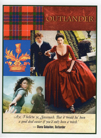 "Outlander ""Witch"" Red Note Card"
