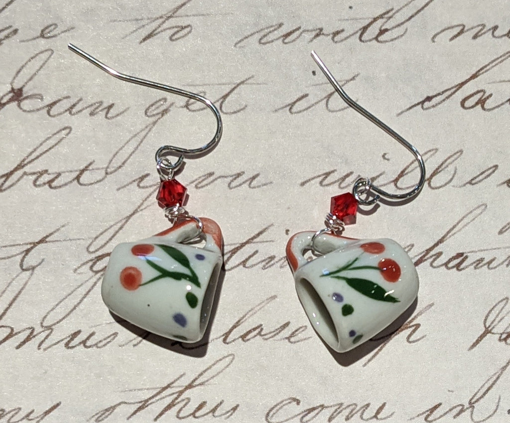 Cherries Mini Mug Earrings