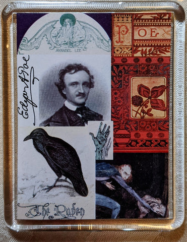 Edgar Allan Poe Collage Magnet