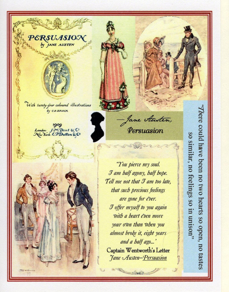 PERSUASION ~ Collage Note Card