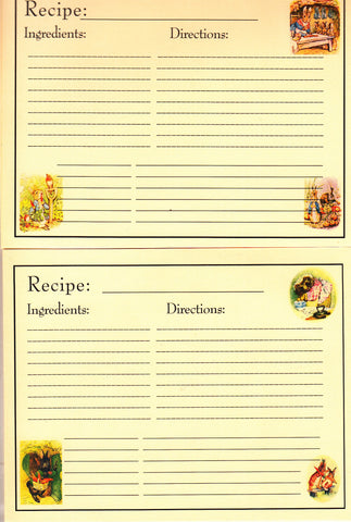 Recipe Cards Package ~ Peter Rabbit & Friends