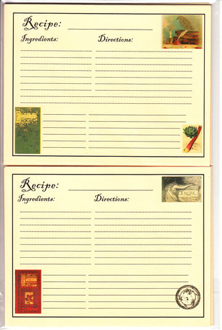 Recipe Cards Package ~ Edgar Allan Poe