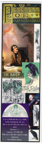Edgar Allan Poe Collage Bookmark