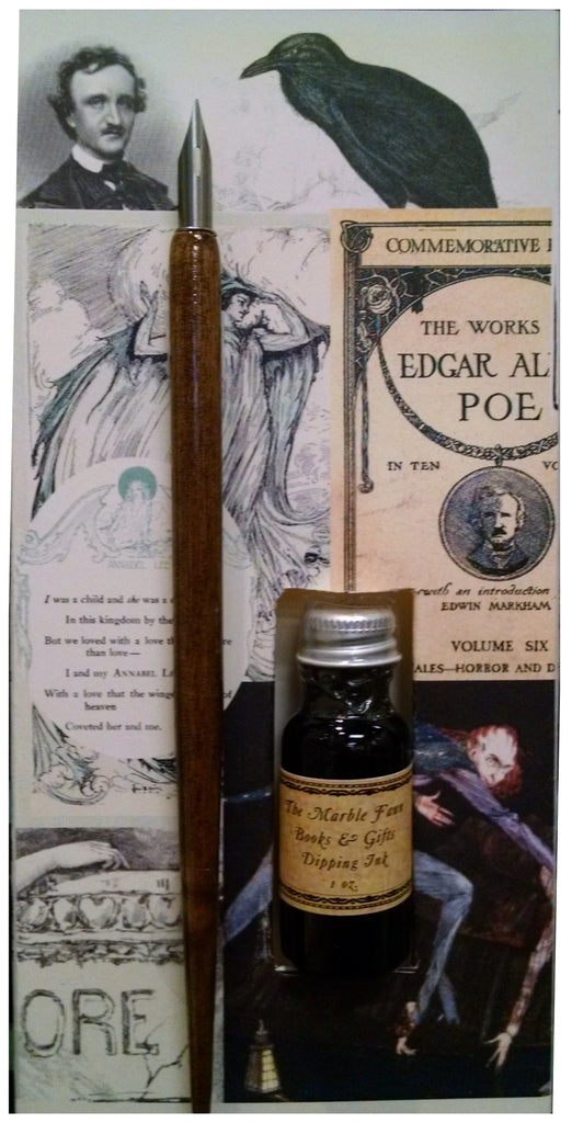 Edgar Allan Poe Dip Pen & Ink Set