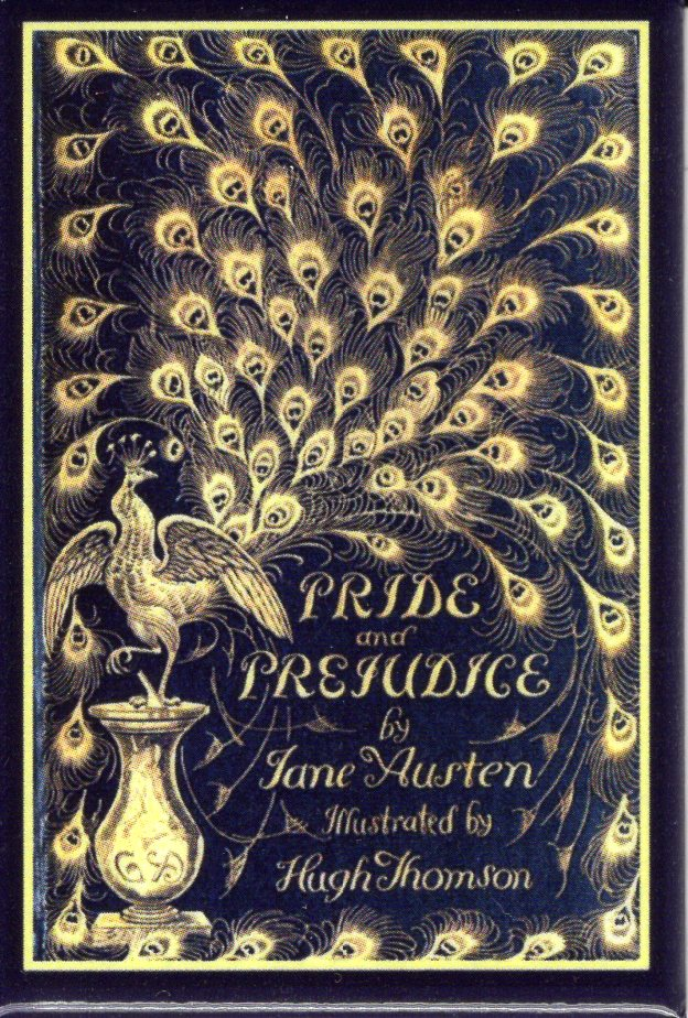 Pride and Prejudice Peacock Cover Antique Book Magnet
