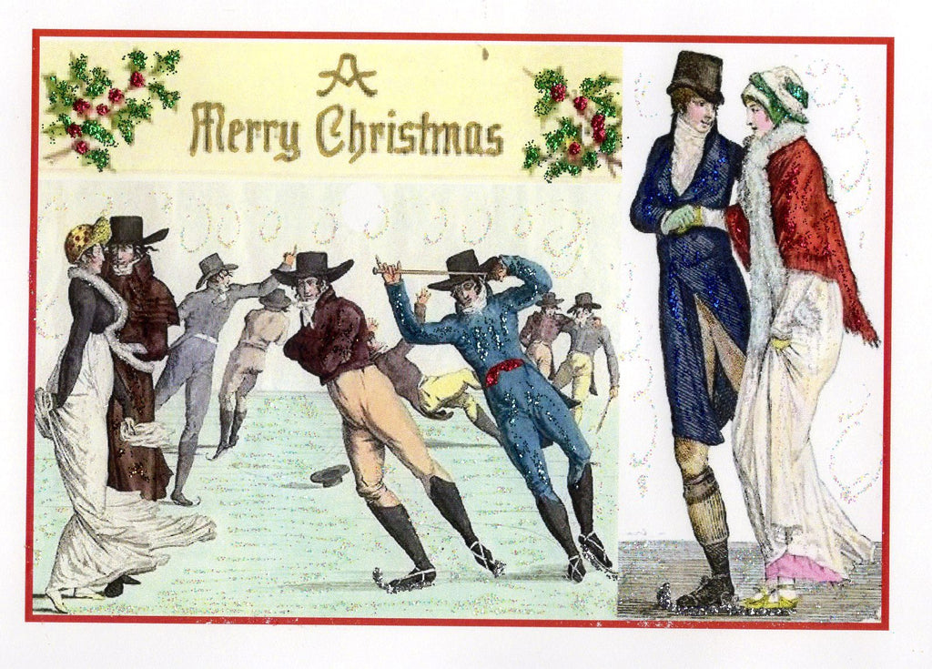 Regency Ice Skaters Christmas Card