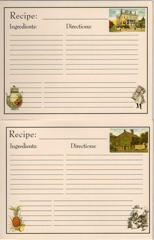 Recipe Cards Package ~ Historic Salem