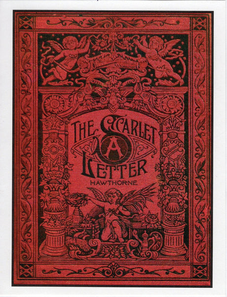 Scarlet Letter Book Cover Note Card The Marble Faun Books Gifts