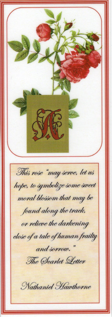 "Scarlet Letter ""Rose"" Bookmark"