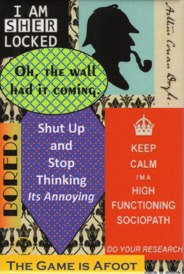 SHERLOCK QUOTES Magnet