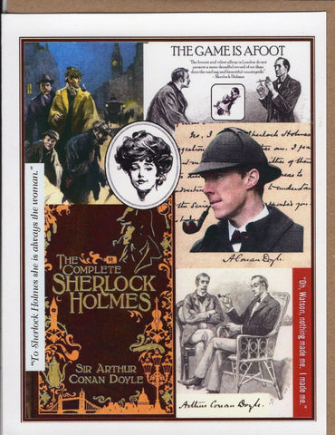 Sherlock Victorian Collage Note Card