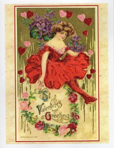 St. Valentine's Greeting... Red Dress Lady