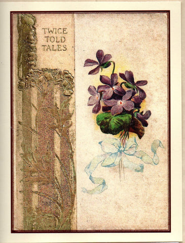 Twice Told Tales 19th Century Book Cover Note Card