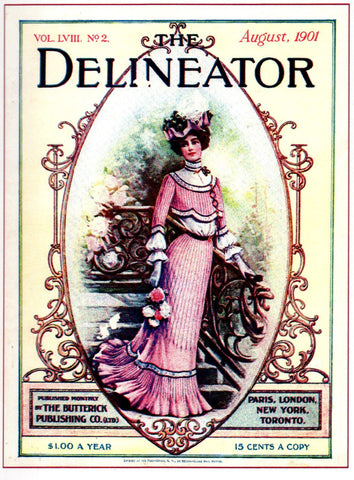 The Delineator Fashion Note Card