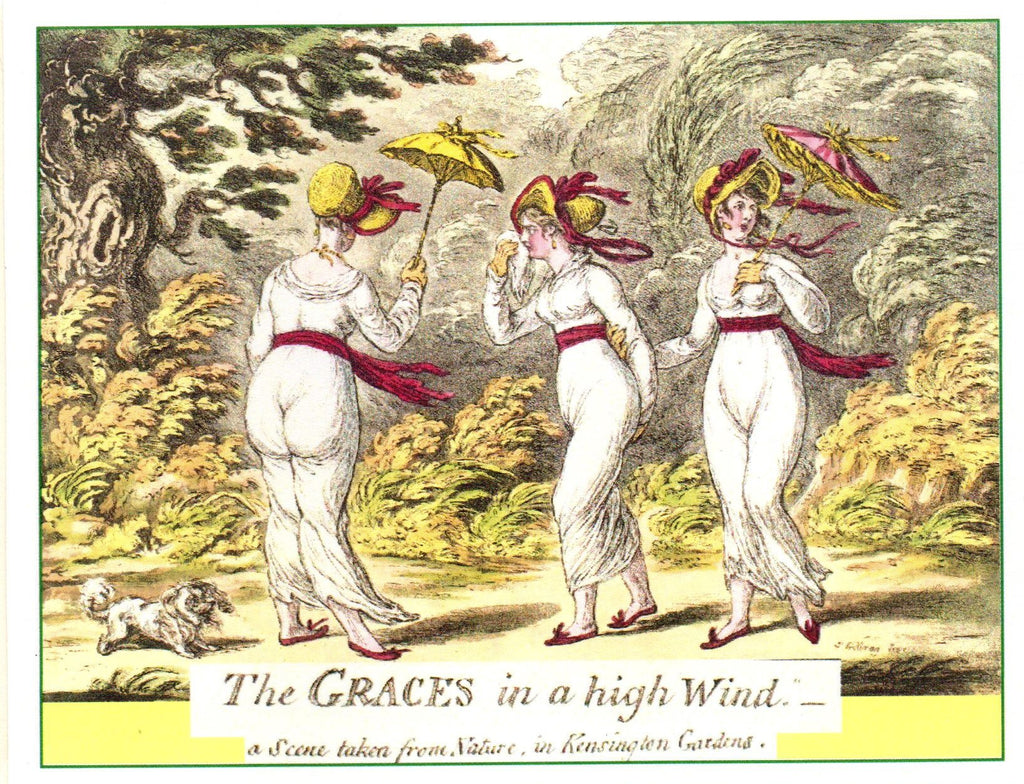 The Graces in a High Wind Note Card