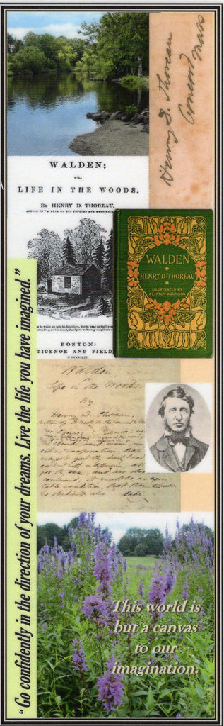 Henry David Thoreau Collage Bookmark