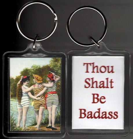Thou Shalt Be Badass Swimmers Keychain
