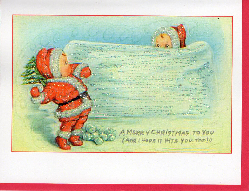 A Merry Christmas to You...Throwing Snowballs Card