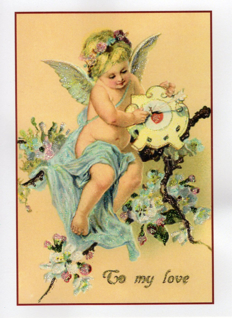 To My Love...Cherub on Blossoming Branch
