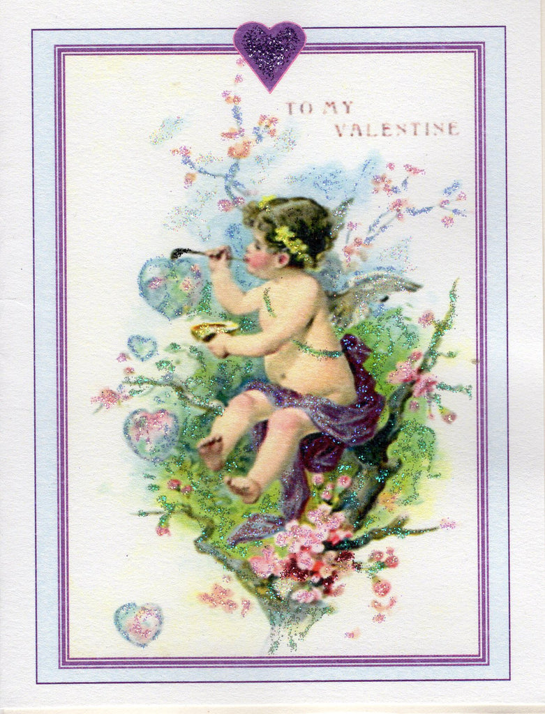 To My Valentine...Cherub Blowing Bubbles