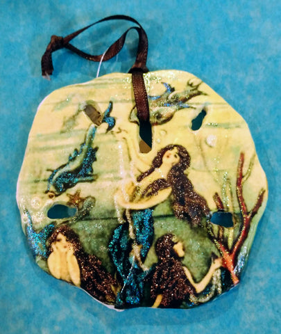 "Under the Sea Mermaid ""Sand dollar"" Ornament"