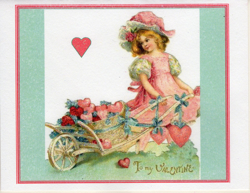 Valentine Card Bundle ~ Hearts & Flowers ~ 10-Card Pack