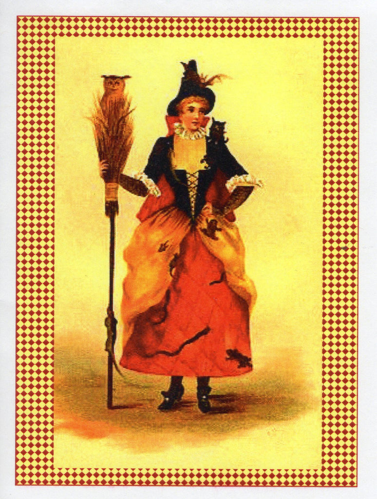 Victorian Witch Costume Note Card
