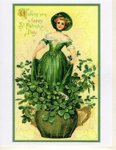 Wishing You A Happy St. Patrick's Day Glitter Card