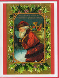 Santa Christmas Card Bundle ~ 10-Card Pack