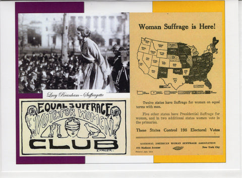 Woman Suffrage is Here! Note Card