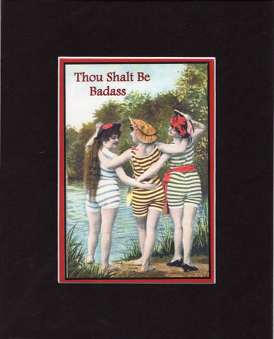 Thou Shalt Be Badass Swimmers Matted Print