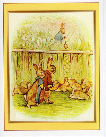 Flopsy Bunnies Garden Walk Note Card