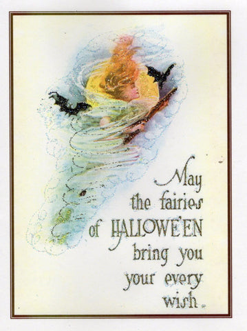 Fairies of Halloween Glitter Card