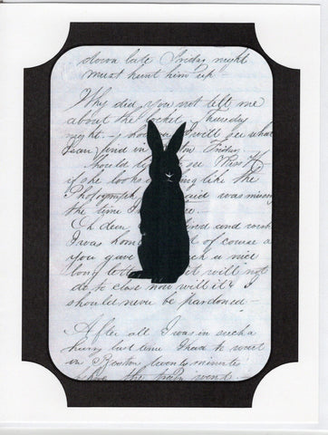 Bunny Silhouette Note Card