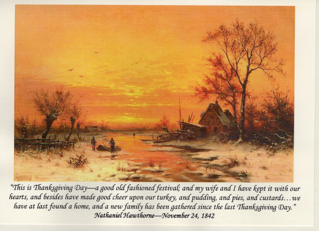 Nathaniel Hawthorne Thanksgiving Note Card