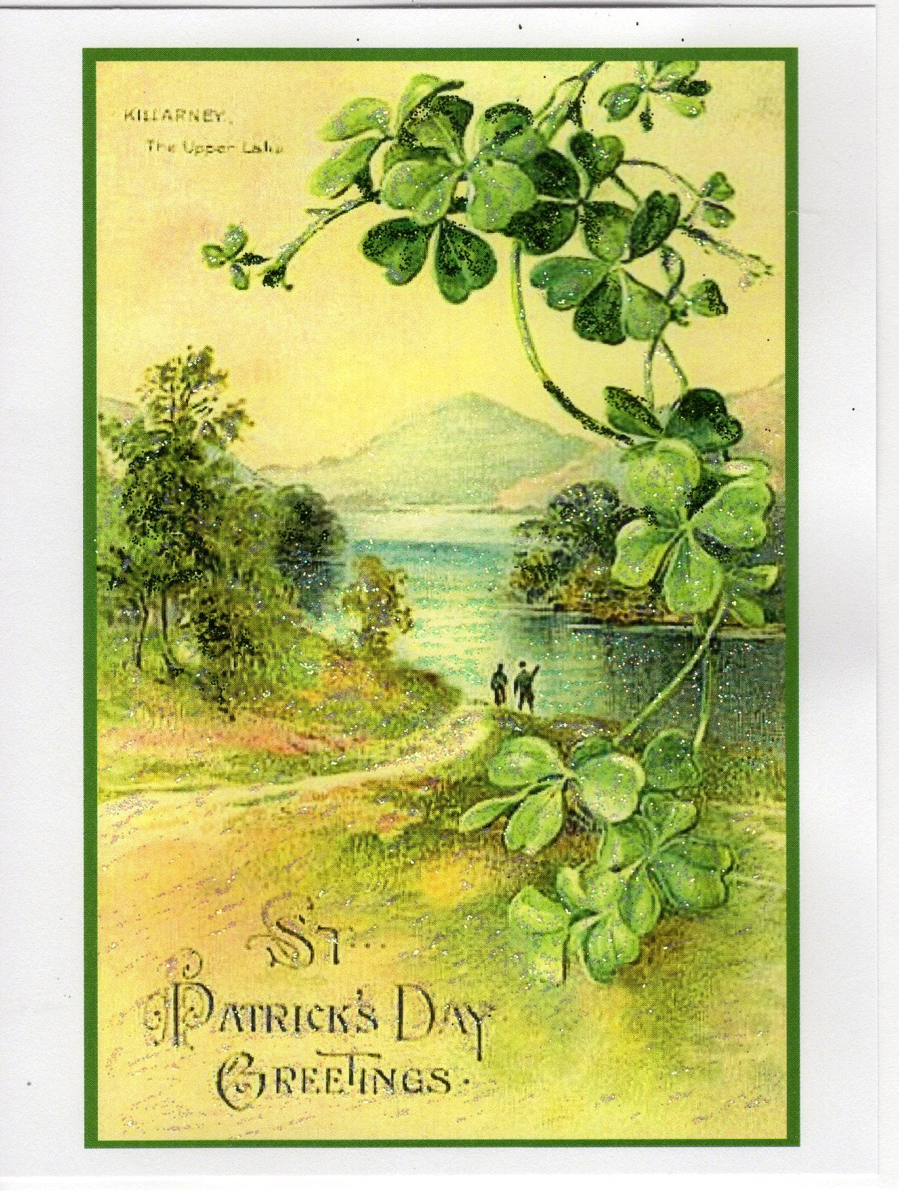 St Patricks Day Greetings Glitter Card The Marble Faun Books Gifts